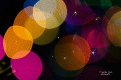 Have you ever seen a rainbow in the night ? ... Welcome in 2017 (mariola aga) Tags: night xmas lights bokeh rainbow colors newyear 2017
