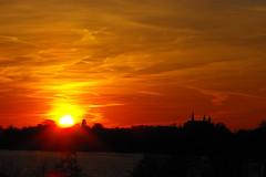 and here is again a sunset... (lilymgc) Tags: sunset orange red sky landscape plön castle beautiful nature sea sun fujifilm finepix