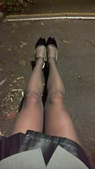 WP_20170105_19_58_09_Pro (Katie Savira) Tags: miniskirt secretary sissy leather crossdresser highheels outdoors