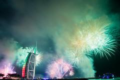 New Year in Dubai - Burj Al Arab (Bengin Ahmad) Tags: 2017 dubai newyear fireworks celebration burj al arab burjalarab hotel luxury colors happiness party art uae دبي الامارات sky outdoor