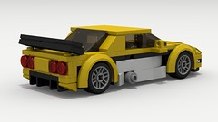 Chevy Corvette C5R (rear view) (Tom.Netherton1) Tags: chevy chevrolet classic vintage v8 american america coupe corvette muscle city car cars speed speedster sport super supercar sports champion champions lego legos ldd designer digital lxf download dropbox povray pov road race racer racing vehicle lemans track 2000s 2010s auto c5r