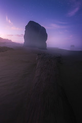 When the fog clears (Ben_Coffman) Tags: pacificnorthwest bencoffman bencoffmanphotography driftwood fog landscape log longexposure longexposurenightphotography nightphotography oregon oregoncoast oregonlandscapephotography oregonphotography pistolriver pistolriverstatepark starphotography starrynight stars