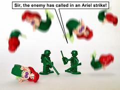 Ariel Strike (Oky - Space Ranger) Tags: lego disney pixar toy story green army men soldiers little mermaid ariel arial strike attack