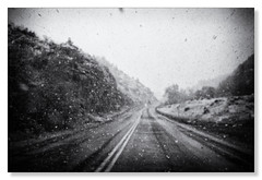 Leaving Sleepy Hollow (Northern Pike) Tags: monochrome sleepyhollow wyoming snow noir
