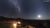 Magellanic Clouds and Moon (dieLeuchtturms) Tags: 16x9 africa afrika galaxie grosemagellanschewolke khomas kleinemagellanschewolke largemagellaniccloud milchstrase mond mondlicht nacht namibia naukluft smallmagellaniccloud sternenhimmel tentedcampgecko galaxy lunarlight milkyway moon moonlight night starsky starrysky