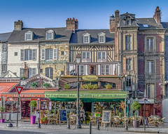 In the streets of Honfleur... (capvera) Tags: honfleur streetscene typical normandie normandy houses timbered