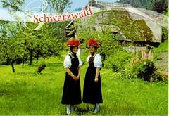 Postcrossing DE-5880472 (booboo_babies) Tags: germany german blackforest traditional costumes girls green postcrossing