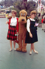 Pluto and friends, 1962 (Tom Simpson) Tags: disney disneyland vintage vintagedisney vintagedisneyland 1962 1960s pluto