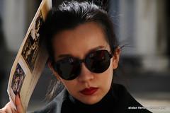 IMG_1189 Venice candid (marinbiker 1961) Tags: venice italy outdoors sunglasses sunny female carnivaldivenezia2017 dof blackhair blacksunglasses portrait