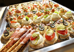 Catering (cantino_alex) Tags: red party food white fish cold horizontal closeup cheese dinner tomato bread table lunch cuisine healthy raw many starter small tasty plate nobody vegetable sandwich fresh meat gourmet delicious event snack meal seafood tray service appetizer buffet banquet arrangement platter herb freshness sourcream catering selectivefocus prepared fingerfood canape groupofobjects mediterranencuisine
