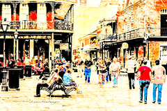 City Life... (LouisAnnImage - The Photography of Howard Brown) Tags: new art french big orleans louisiana fine quarter easy photoart