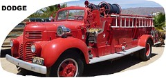 NOT IN SERVICE. (goldiesguy) Tags: auto old classic cars car truck outdoors automobile antique firetruck classics dodge automobiles goldiesguy