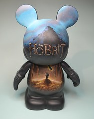 The Hobbit (Jared Circusbear) Tags: urban mountain art painting toy mouse toys dragon handmade disneyland vinyl lord disney mickey pop kidrobot plastic rings disneyworld actionfigures figure cave lonely collectible custom figurine walt hobbit tolkien dunny funko smaug the circusbear munny popvinyl vinylmation munnyworld