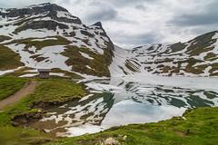 Bachalpsee (peaflockster) Tags: summer lake snow mountains alps reflection june mirror switzerland berneseoberland bachalpsee
