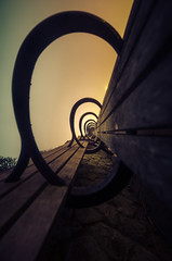 Through the wormhole. 🐛🐜 (whoiscalvinhu) Tags: sf longexposure sunset sky sun seascape night landscape nikon cityscape adventure explore bayarea dslr nikonphotography nikond7000