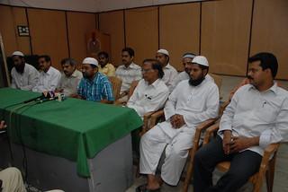 Muslim United Front Andhra Pradesh President Habeeb Ur Rehman addressing the Press Meet on Babri Masjid Judgement day