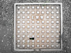 EWW (the Magnificent Octopus) Tags: water scotland edinburgh iron steel drain cover works hatch