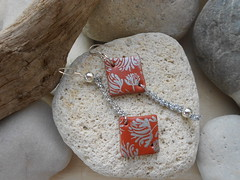 DSCN3217 (katerina66) Tags: handmade jewellery polymerclay silkscreen earrings handmadejewellery