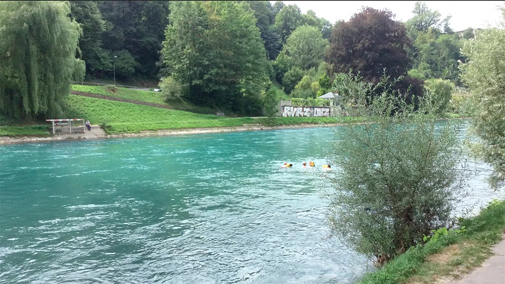 Nadando no Aare