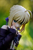 Saber shy (gwennan) Tags: summer anime color cute green colors japan closeup toy figure saber figures pvc jfigure fatehollowataraxia goodsmilecompany holidayver