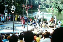 7-1-1968- Disneyland- Fire Dance Circle (foundslides) Tags: disney anaheim waltdisney themepark photo pics pix vintage retro slides foundslides pdthorne disneypark kodachrome kodak slidefilm found color awesome analog slidecollection irmarudd