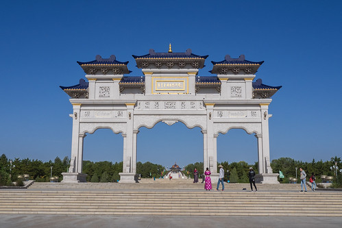The entrance of the Mausoleum of Genghis Khan