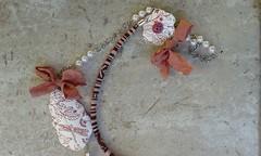 (katerina66) Tags: necklace chain polymerclay silkscreen handmadejewellery silksari κολιέ κοσμήματα χειροποίητο πολυμερικόσάργιλοσ ethniccord