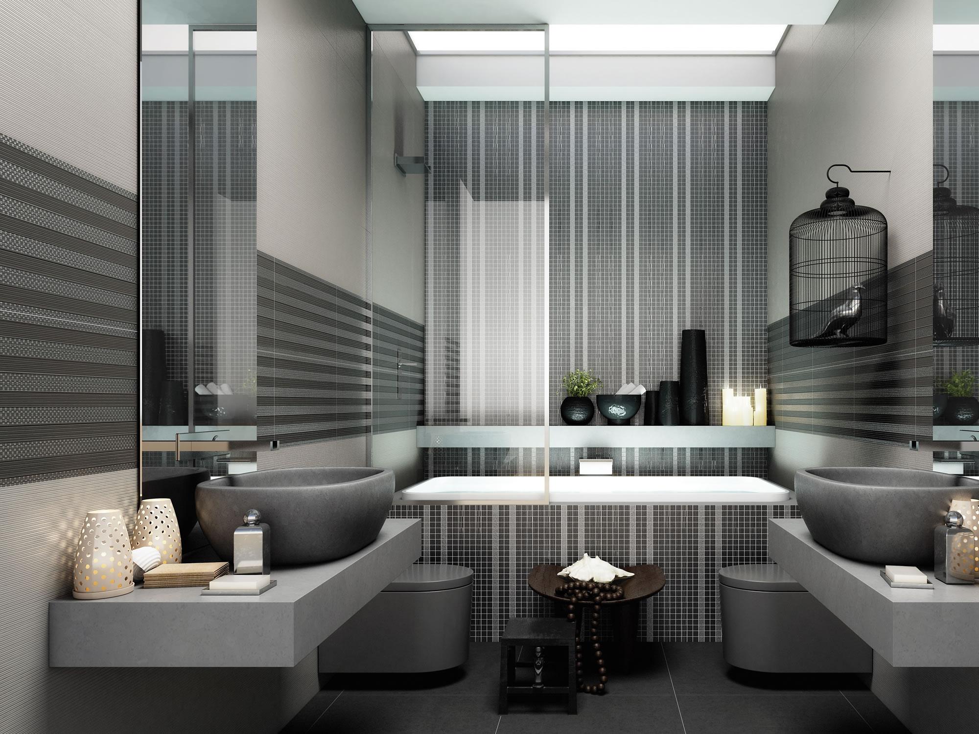 Marca corona pavimenti boiserie in ceramica per bagno - Boiserie in ceramica per bagno ...