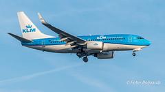PH-BGP Boeing 737-7K2(WL)  KLM Royal Dutch Airlines (Peter Beljaards) Tags: phbgp 737 klm ams eham schiphol landing aircraft airplane airliner
