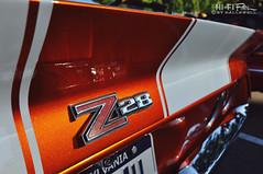 Z Tail (Hi-Fi Fotos) Tags: chevy camaro z28 badge tail spoiler rear orange whtie stripes vintage chrome american classiccar musclecar pony 1970s nikon d5000 hififotos hallewell