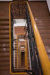 Staircase (michaelmuc79) Tags: münchen munich treppen stairs staircase holz wodden geländer