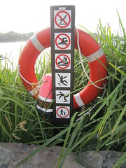 IMG_0043 (Sweet One) Tags: barangaroo sydney nsw newsouthwales australia buoy buoyant sign stickfigures