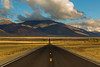 Lonely Highway NV 140 in Nevada (Lee Rentz) Tags: long nv140 nevada santarosarange americanwest basinandrange distances distant highway landscape loneliness lonely mountains northamerica road route straight usa vast west