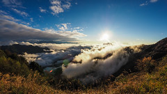 Sunset dusk|合歡山 Hehuanshan (里卡豆) Tags: olympus penf 8mmf18pro 8mmf18 fisheye sunset dusk 日落 夕陽 黃昏 太陽 高山 山 雲海 taiwan 台灣 clouds mountain 合歡山 hehuanshan