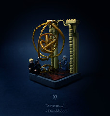 27 - The Lightning-Struck Tower (Melan-E) Tags: harry potter half blood prince astronomy tower dumbledore sad times cry all time magical journey lego afol toronto torolug malfoy snape is jerk
