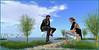 ze bulle ... (Tim Deschanel) Tags: grace grace81 capalini tim deschanel sl second life black kite exploration landscape paysage
