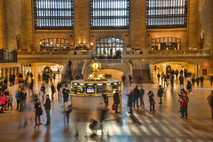 West Balcony (JMS2) Tags: station terminal commuters clock nyc grandcentralterminal subway mta metronorth architecture landmark indoor people