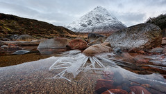 Cold start (Pete Rowbottom, Wigan, UK) Tags: buachailleetivemor boochle frost ice snow winter icicle icicles mountain river dawn landscape earlymorning glencoe rocky rocks peterowbottom highland scotland scottish scottishmountains scottishlandscape lochaber scotlandlandscape dramatic depthoffield lowperspective water glen sunrise clouds nikond750 wideangle snowy munro outdoor unusual wow attractive hills fortwilliam westhighlands glenetive explored inexplore