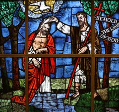 Baptism of the Lord (Lawrence OP) Tags: window stainedglass stjohnthebaptist jesuschrist baptism biblical