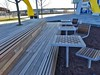 Dock 79 Plaza 2017-01-08 at 8.01.57 AM 5_edit (krossbow) Tags: chess table checkerboard chair washington dc seating plaza park outdoor oculuslandscaping oculus architecture dock 79 design capitol riverfront anacostia river photolemur