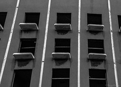 Watching Nothingness (Voyen_Ras) Tags: deserted urban abounded leave empty architecture explore create life monochrome blackwhite bw lines geometry