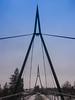 Pillar insertion (A. Yousuf Kurniawan) Tags: pillar bridge architecture sky winter tower symmetry symmetric cameraphone sunset geometric