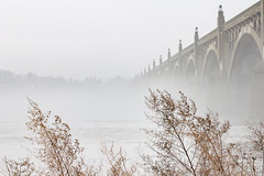 foggy day glimpses (Chimmih) Tags: susquehanna fiver fog wrightsvillecolumbia bridge