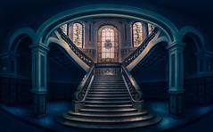 HISTORIAS DE UNA ESCALERA (Fernando Guerra Velasco) Tags: arquitectura panorámica valladolid universidad escalera