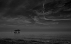II (Susie Potter) Tags: blackwhite watersea towers coolers sizewell clouds beach