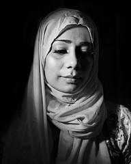The Imam's Daughter (DeeMac) Tags: hijab demure blackandwhite 35mm d700 lightandshadow