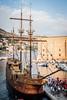 Arribo del Karaka al muelle de Dubrovnik