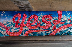 Oh yes (21mapple) Tags: dumbo underpass subway yes street art streetart grafitti newyork new york manhattan brooklyn usa city state