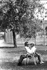 Couple Relaxing in NYC (sinbadcc1) Tags: nyc streetphoto oldercouple alongtimeago couplerelaxing