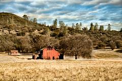 Red Barn (DeniseDewirePhotography) Tags: grass clouds montereycounty redbarn coalinga oldbarn oldhernandezroad oldcoalingaroad